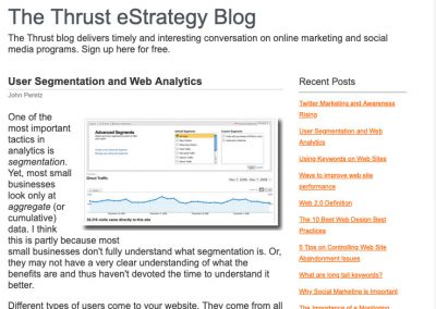 User Segmentation and Web Analytics