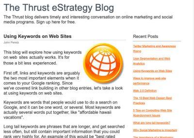 Using Keywords on Web Sites