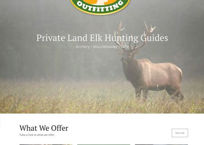 Cutty Creek Outfitting Website