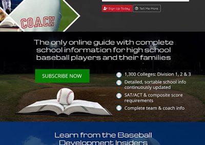 On The Radar Baseball Website