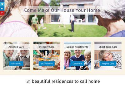 Our House Senior Living Website