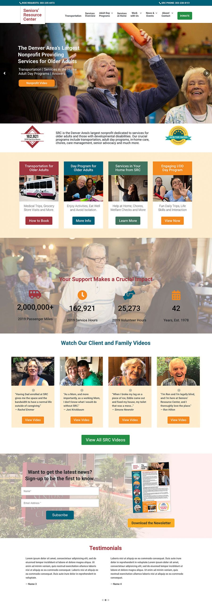 Seniors' Resource Center Web Design